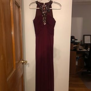 Lord & Taylor Maroon with Jewel Accent